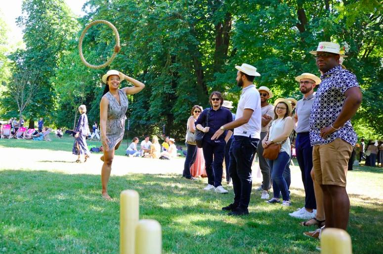 jeu de quilles organisé par l'agence événementiel THE BON SENS à Compiègne