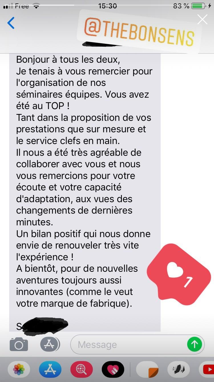 Retour sur le séminaire SNCF dans l'oise à côté de Compiègne
