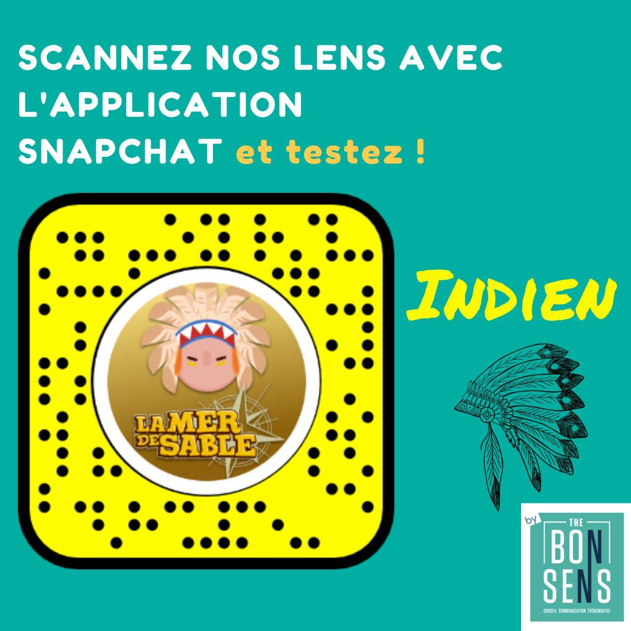 Filtre Snapchat la mer de sable agence de communication the bon sens Hauts de France Compiègne digital communication