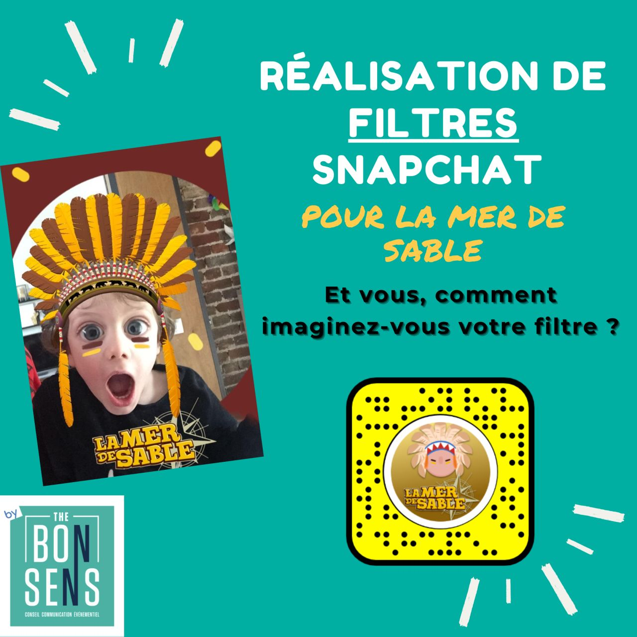 Filtre snapcht la mer de sable agence de communication the bon sens Hauts de France Compiègne digital communication